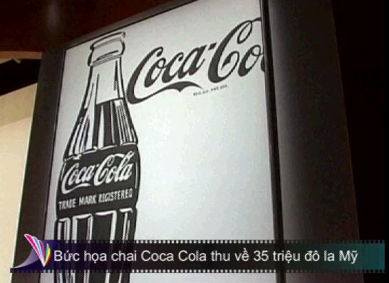 Bức họa chai Coca Cola thu về 35 triệu đô la Mỹ