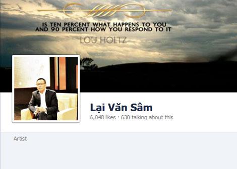 Nhà báo Lại Văn Sâm bị giả danh trên Facebook