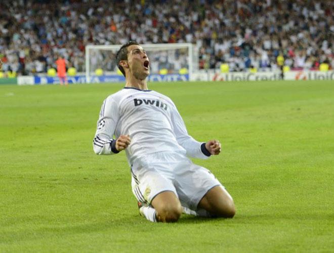 Ronaldo ăn mừng bàn thắng vào lưới Man City - Ảnh: Getty