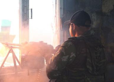 Binh sỹ Nga-Trung Quốc diễn tập chung bắn đạn thật