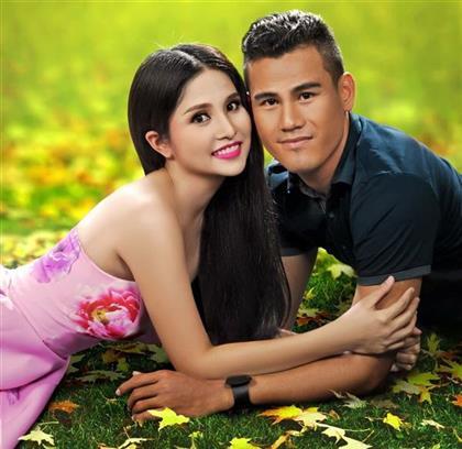 Cầu thủ Phan Thanh Bình và vợ thi Bước nhảy Hoàn vũ 2014