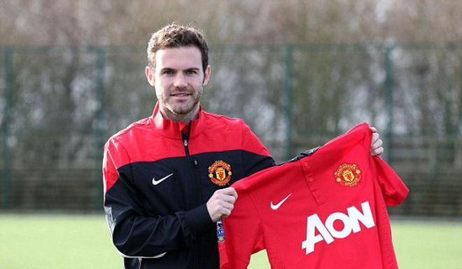 CHÍNH THỨC: Không phải số 7, Juan Mata chọn áo số 8 ở Man United