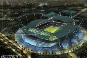 Sân Etihad sẽ có thêm khoảng 14 ngàn chỗ ngồi.