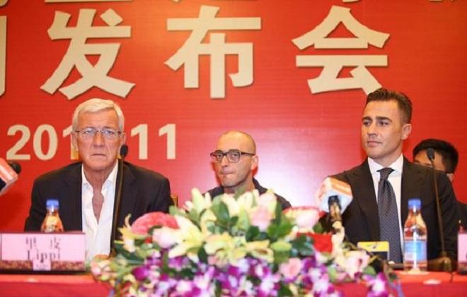 Cannavaro chính thức thay Lippi dẫn dắt Guangzhou Evergrande