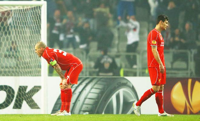 Lần đầu tiên trong lịch sử dự các Cúp châu Âu, Liverpool bị đánh bại trên chấm 11m