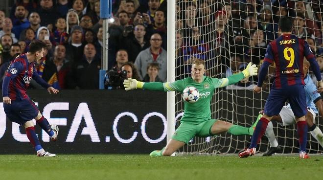 Messi bái phục Joe Hart sau trận thắng Man City