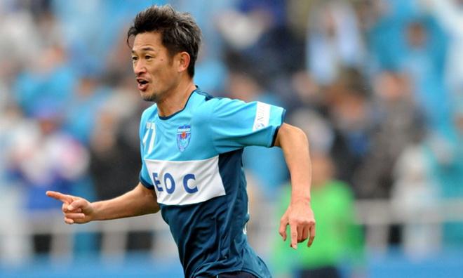 Cựu tuyển thủ Miura trở thành cầu thủ già nhất ghi bàn ở Nhật Bản