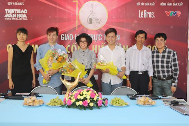 Giao lưu trực tuyến với Nguyễn Trần Trung Quân, Phạm Toàn Thắng, Trương Thảo Nhi