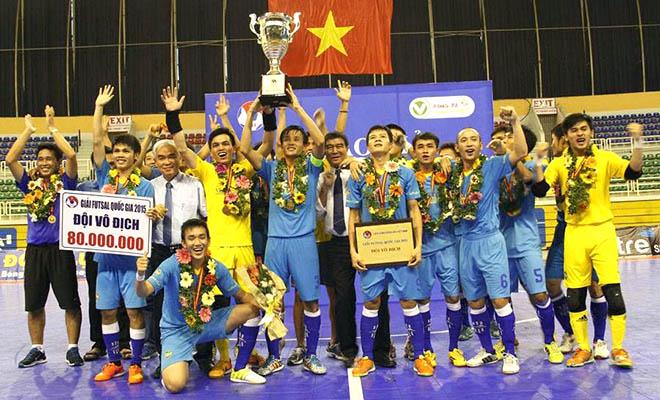 Sanna Khánh Hòa vô địch giải futsal VĐQG 2015