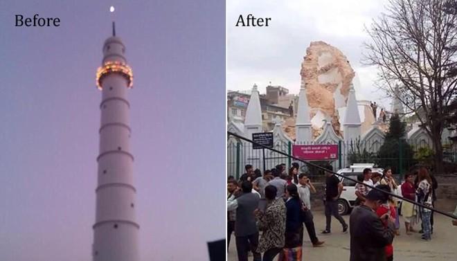VIDEO: Báu vật của Nepal trước và sau trận động đất kinh hoàng