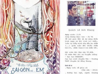 """Sau """"kỷ lục"""" phát hành, Anh Khang ra sách về Sài Gòn"""
