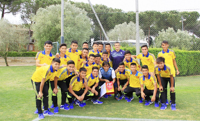 U18 PVF giao lưu với U19 Lazio, gặp Inzaghi em