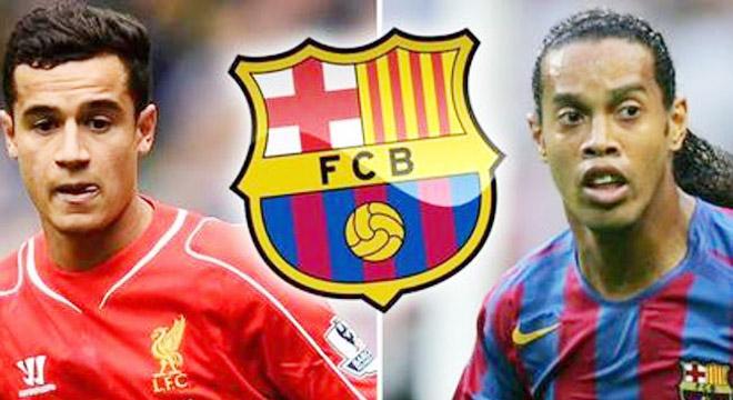 Ronaldinho khuyên Coutinho bỏ Liverpool, gia nhập Barcelona