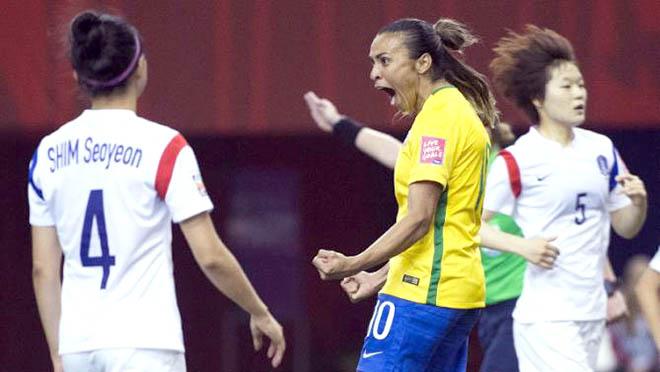 World Cup nữ 2015: Marta lập kỷ lục ghi bàn