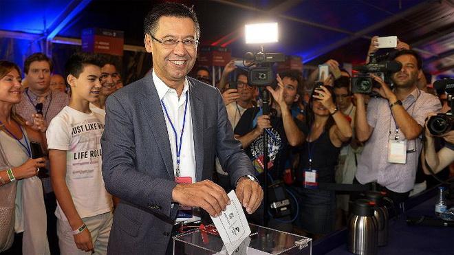Josep Maria Bartomeu thắng cử, một lần nữa làm Chủ tịch Barca