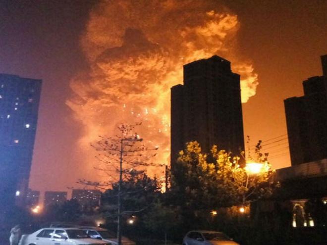 Nổ lớn ở Thiên Tân: Nhân chứng sốc 'ngỡ như vụ 11/9' hoặc phim 'Godzilla'