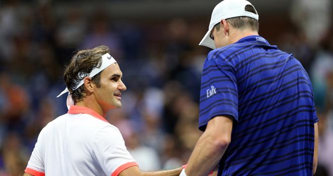 Roger Federer đánh bại Isner đầy kịch tính, gặp Gasquet ở Tứ kết