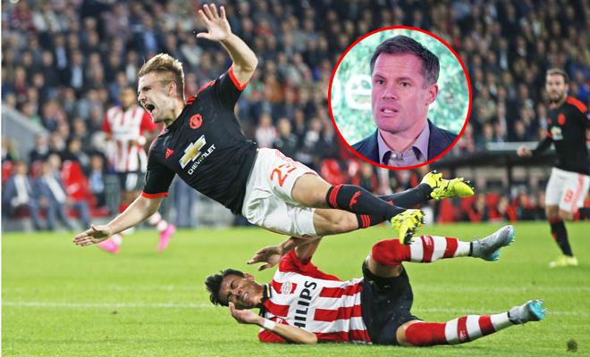 Jamie Carragher buồn rười rượi vì Luke Shaw của Man United gãy chân