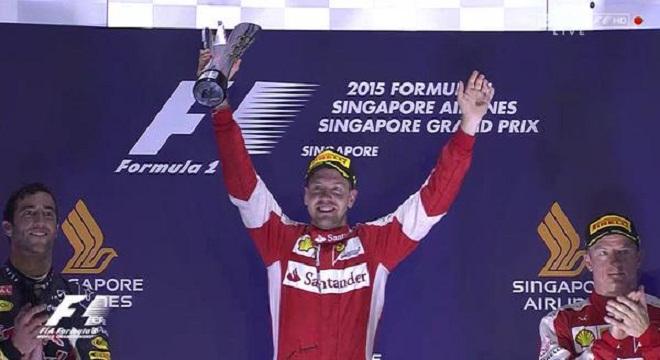 F1 - chặng 13 GP Singapore: Vettel vô địch, Hamilton trắng tay
