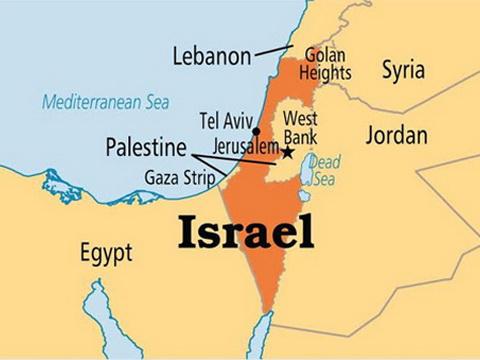 Image result for bản đồ israel