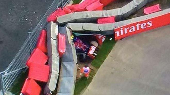Tai nạn kinh hoàng ở đường đua F1 tại Nga