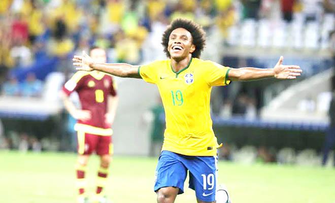 Brazil thắng Venezuela 3-1: Khi Willian đóng vai của Neymar