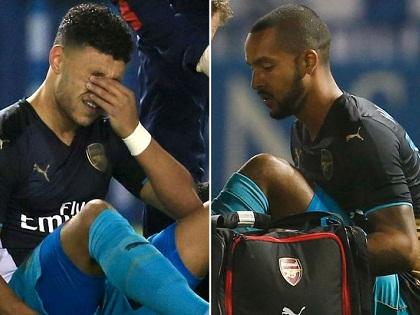Walcott và Oxlade-Chamberlain vắng mặt trong 3 trận đấu quan trọng của Arsenal