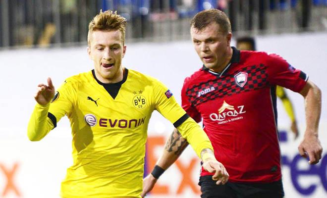 01h00 ngày 06/11, Dortmund –Qabala (lượt đi 3-1): Trận thắng thứ sáu liên tiếp?
