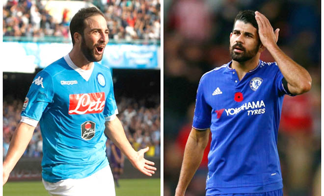 Chelsea: Higuain sẽ hỗ trợ, hay thay thế Costa?