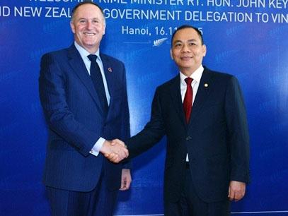 Thủ tướng New Zealand thăm và làm việc tại Tập đoàn Vingroup