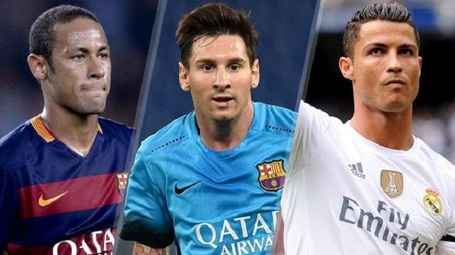 Messi, Ronaldo và Neymar lọt vào Top 3 đề cử Quả bóng Vàng