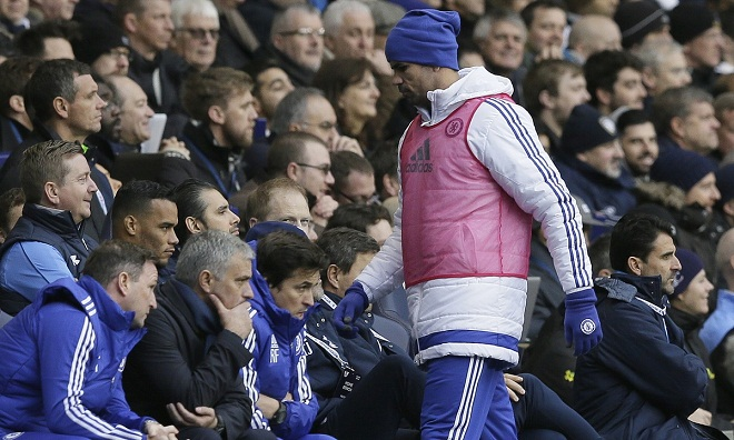Jose Mourinho có thể sẽ hối hận về việc để Diego Costa ngồi dự bị