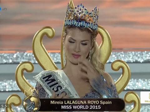 TRỰC TIẾP Chung kết Hoa hậu Thế giới 2015: Hoa hậu Tây Ban Nha Mireia Lagaguna Royo đăng quang