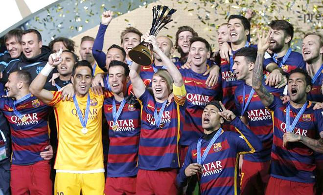 Barca vô địch FIFA Club World Cup: Tượng vàng Oscar cho Barcelona