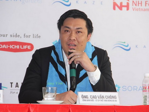 TGĐ VPF Cao Văn Chóng: 'B.Bình Dương đưa ý kiến quá vội vàng'