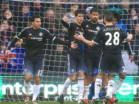 Crystal Palace 0–3 Chelsea: Diego Costa, Willian tỏa sáng, Chelsea thắng dễ ở Selhurst Park