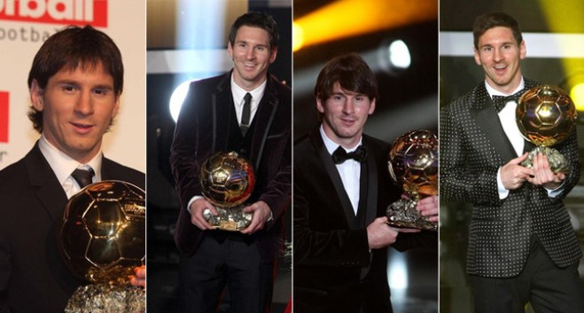 SỐC trước trang phục của Messi ở Gala Quả bóng Vàng 2015