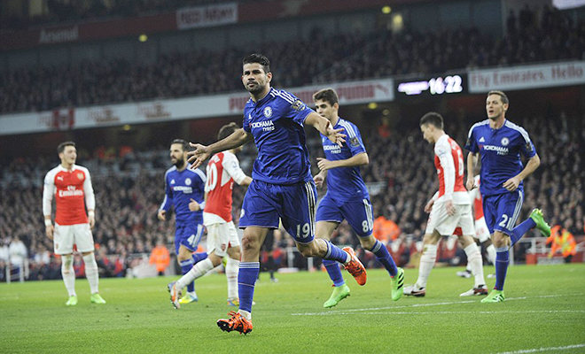 Với Arsenal, Diego Costa đáng sợ không kém Drogba