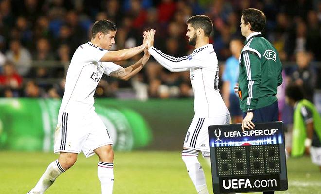 Chuyển nhượng Real Madrid: Isco hoặc James phải rời Bernabeu
