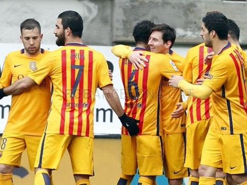 Eibar 0–4 Barca: Messi lập cú đúp, Barca thắng trận Liga thứ 11 liên tiếp