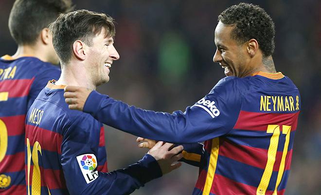 Hàng công Barca: Neymar còn phải học Messi rất nhiều