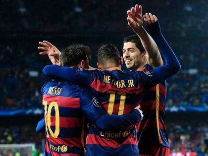 Barca 3-1 Arsenal (tổng 5-1): Messi, Suarez và Neymar nổ súng, bắn hạ 'Pháo thủ'