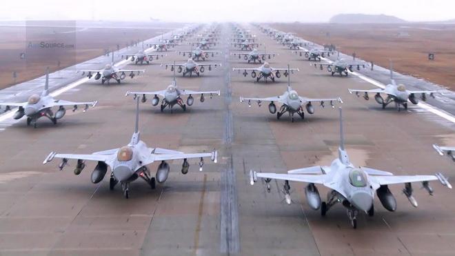 Máy bay Mỹ từ khắp Thái Bình Dương đổ về Hàn Quốc tập trận