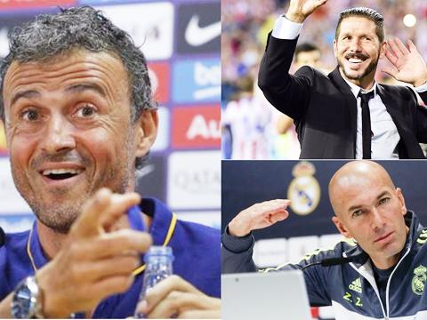 Cuộc đua Liga: Enrique tự tin, Zidane lạc quan, Simeone vẫn tự hào