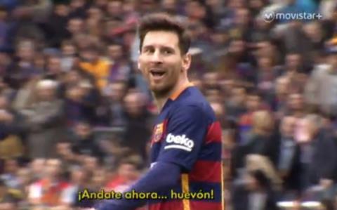 Messi chửi thẳng mặt thủ môn Espanyol ở derby Catalunya