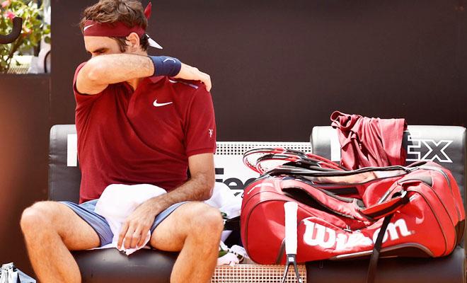 """Federer tạm biệt Rome Masters: """"Tàu tốc hành"""" đang mỏi mệt"""