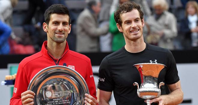 Djokovic: 'Murray là đối thủ lớn nhất tại Roland Garros'