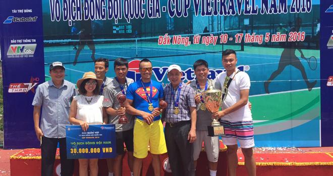 Giải Quần vợt đồng đội vô địch quốc gia 2016: Công An Nhân Dân lên ngôi vô địch