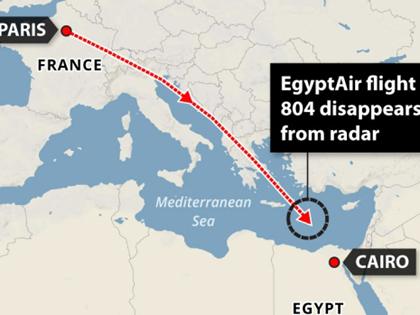 VIDEO: Xem hành trình của máy bay Ai Cập trước khi mất tích trên Địa Trung Hải