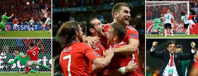 Hạ Bỉ ở Tứ kết EURO 2016, xứ Wales thiết lập chiến tích lịch sử
